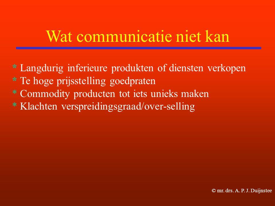 Wat communicatie niet kan