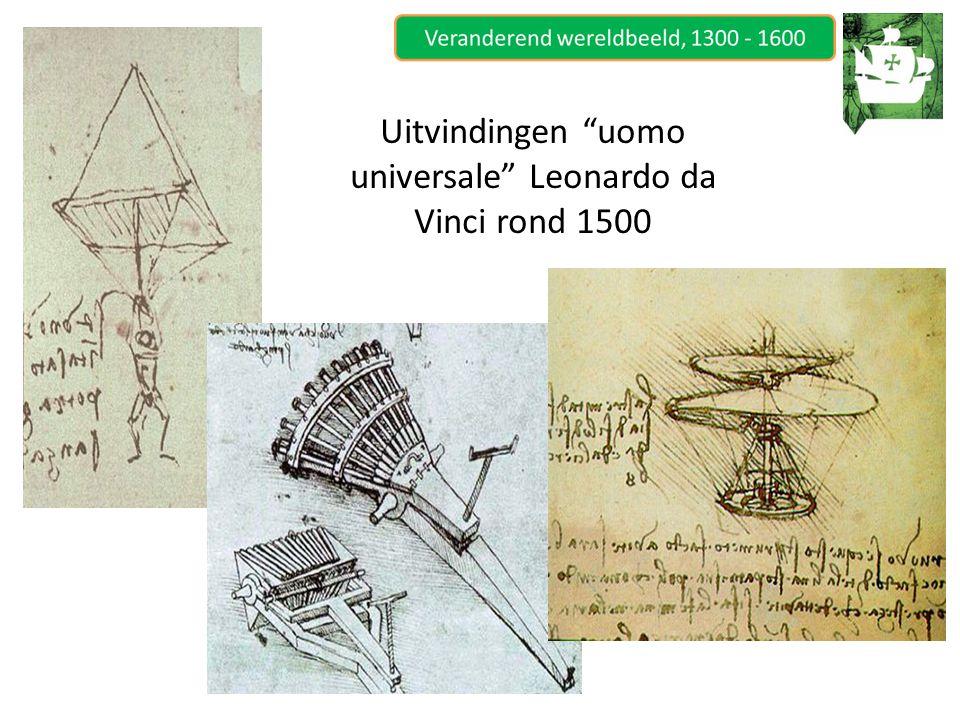Uitvindingen uomo universale Leonardo da Vinci rond 1500