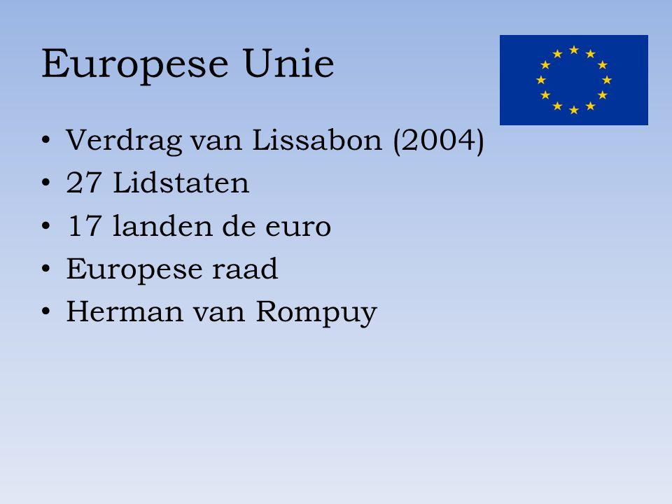 Europese Unie Verdrag van Lissabon (2004) 27 Lidstaten