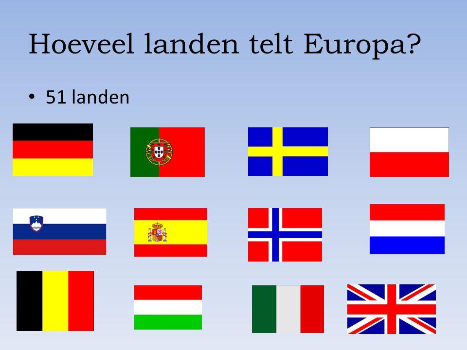 Hoeveel landen telt Europa