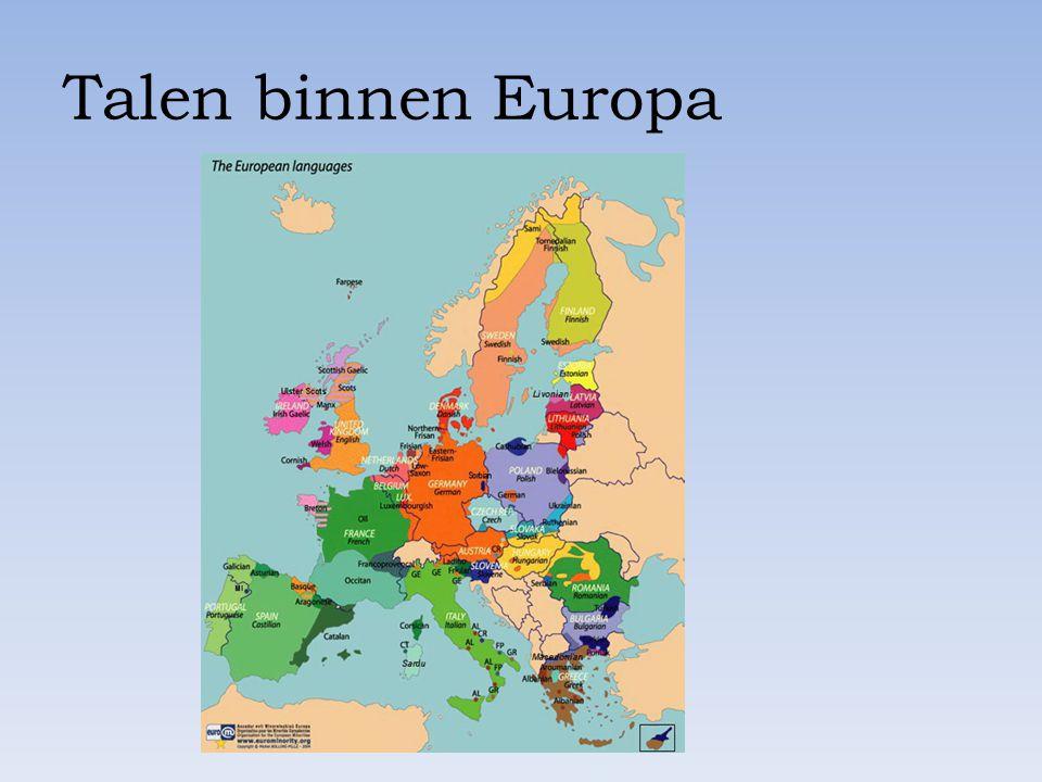 Talen binnen Europa
