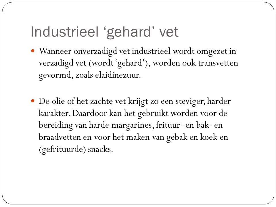 Industrieel 'gehard' vet