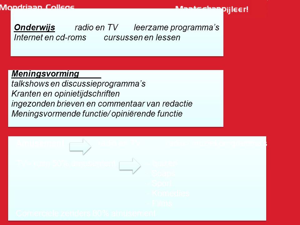 Onderwijs radio en TV leerzame programma's