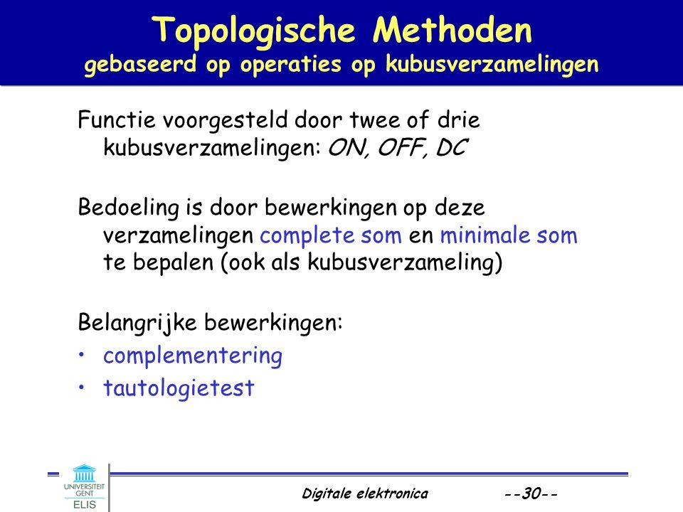 Topologische Methoden gebaseerd op operaties op kubusverzamelingen