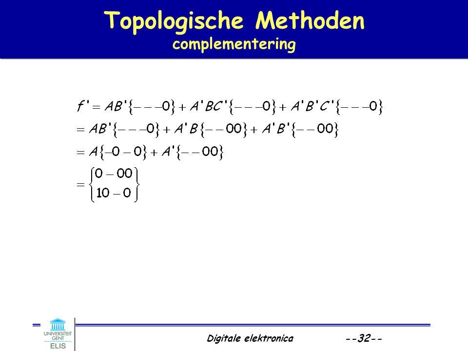 Topologische Methoden complementering