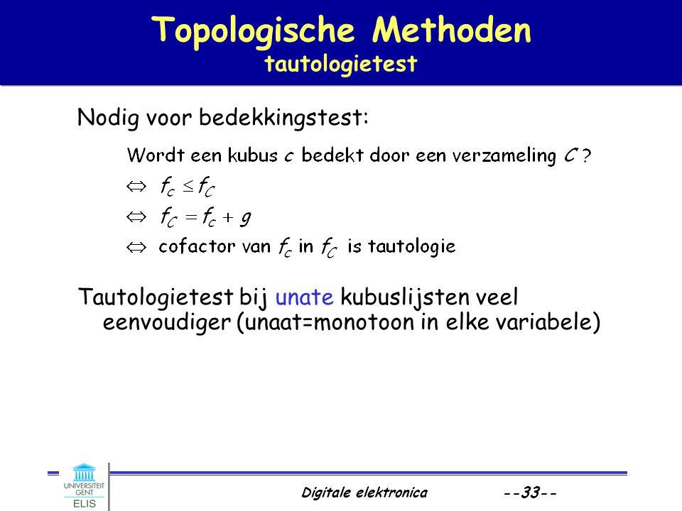 Topologische Methoden tautologietest