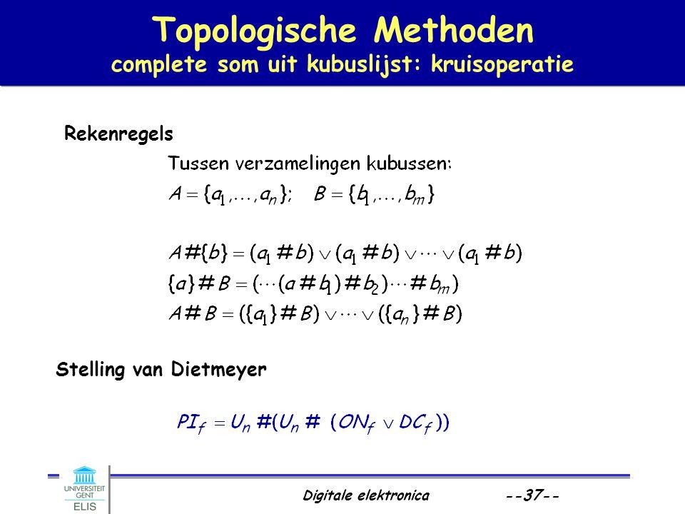 Topologische Methoden complete som uit kubuslijst: kruisoperatie