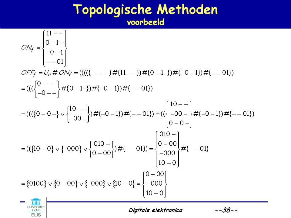 Topologische Methoden voorbeeld