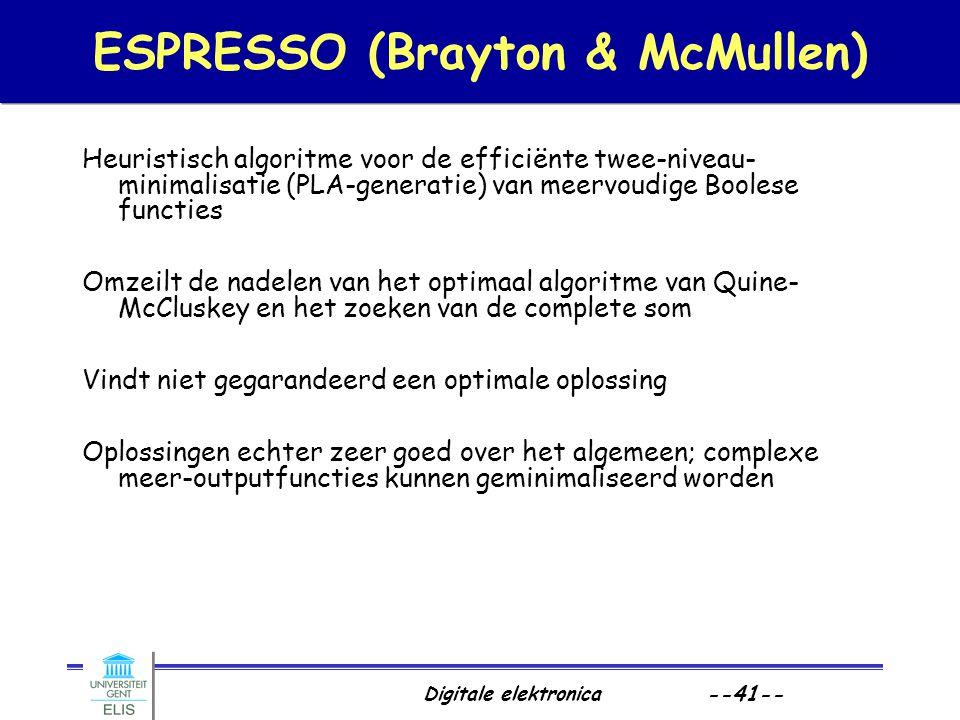 ESPRESSO (Brayton & McMullen)
