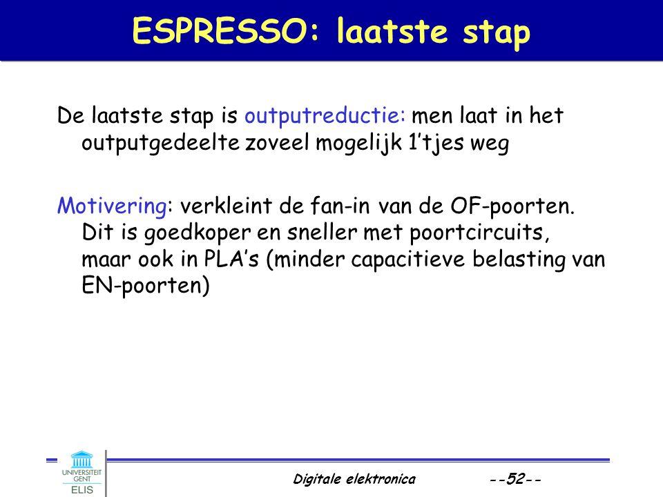 ESPRESSO: laatste stap