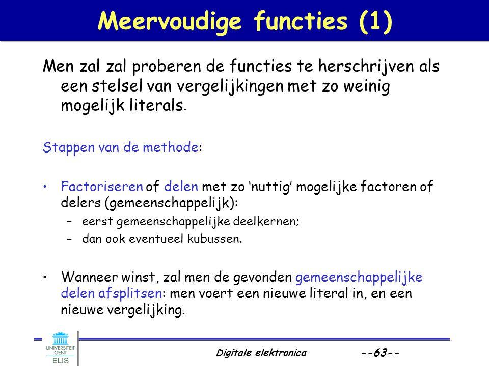Meervoudige functies (1)