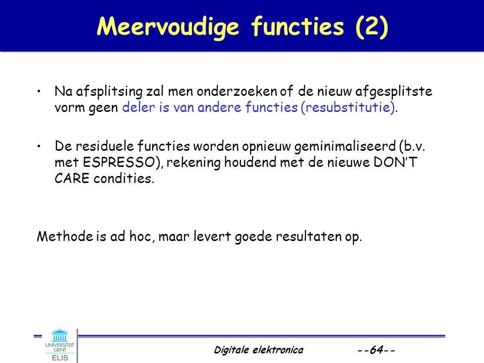 Meervoudige functies (2)