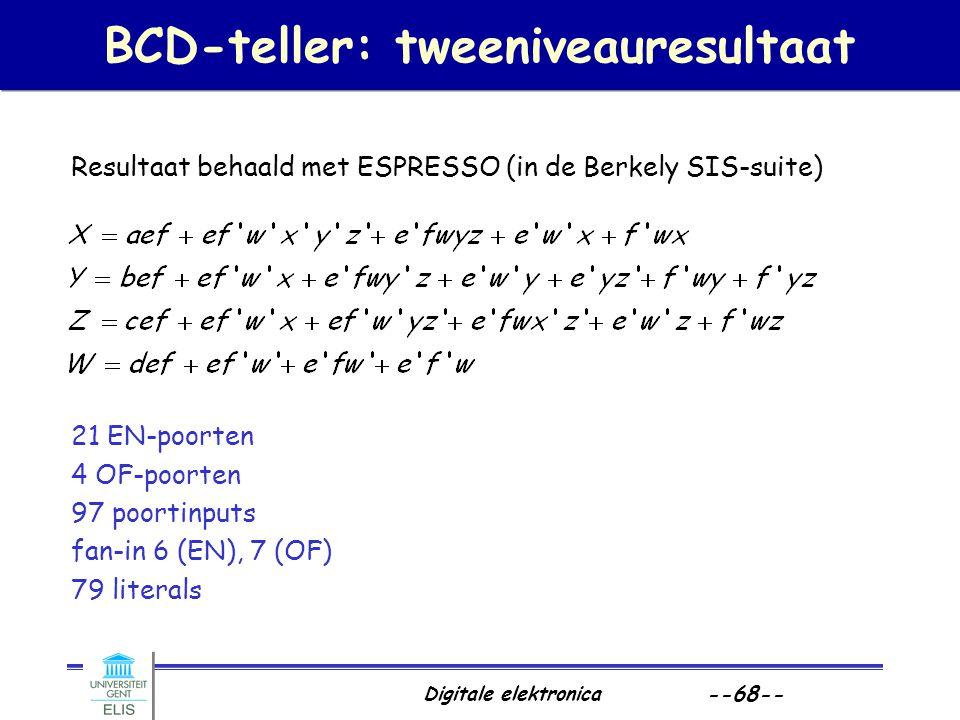 BCD-teller: tweeniveauresultaat