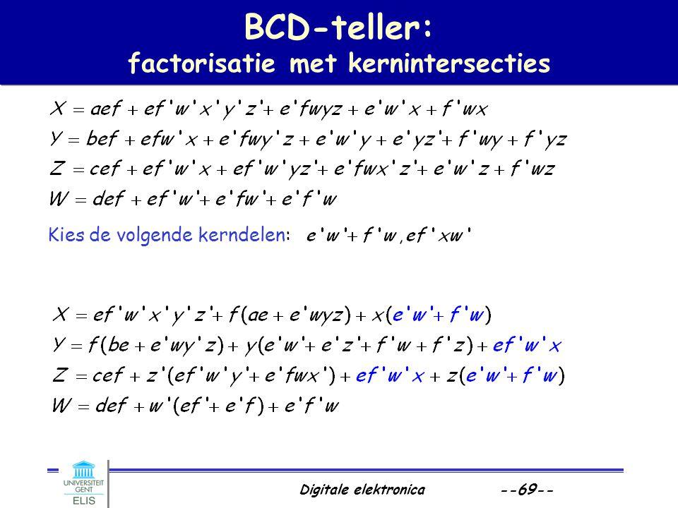 BCD-teller: factorisatie met kernintersecties