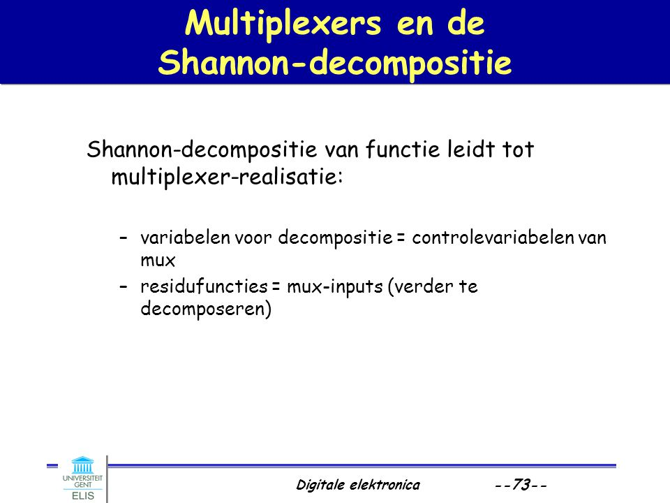 Multiplexers en de Shannon-decompositie