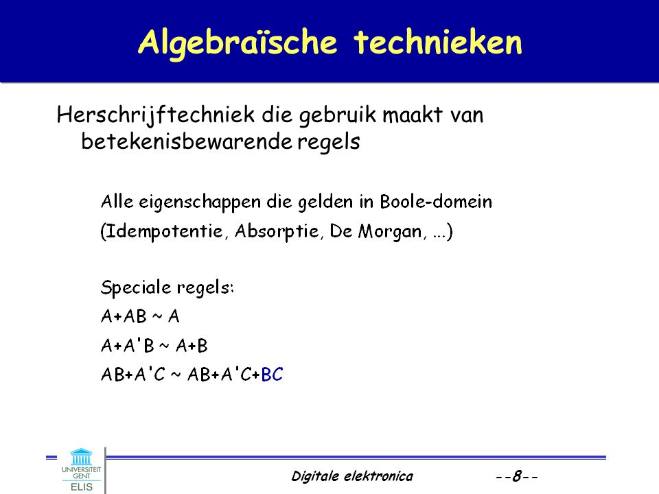Algebraïsche technieken