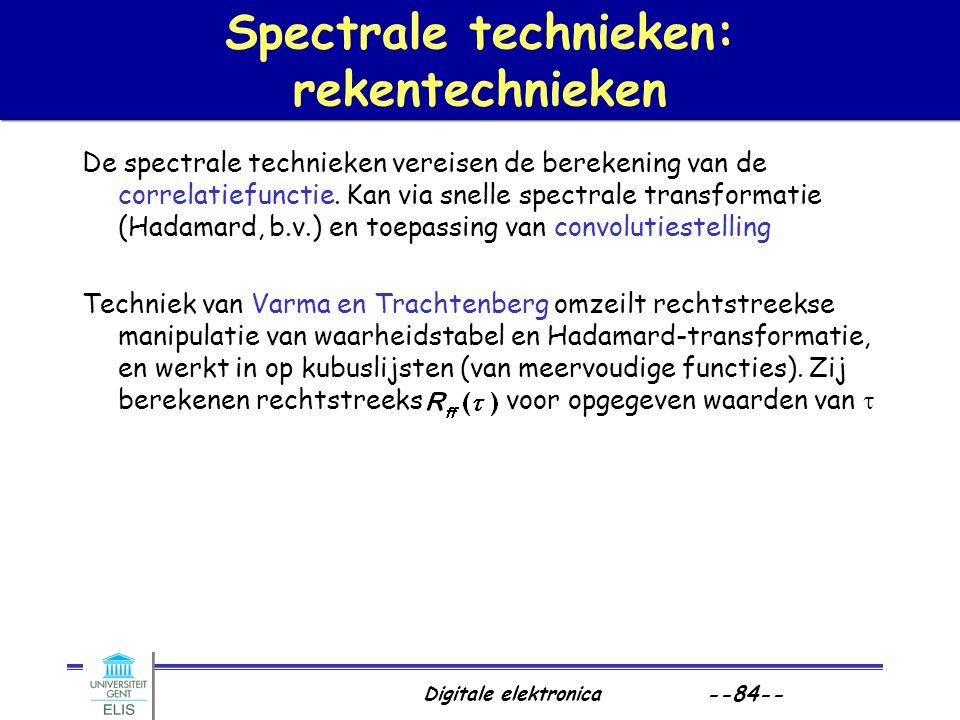 Spectrale technieken: rekentechnieken