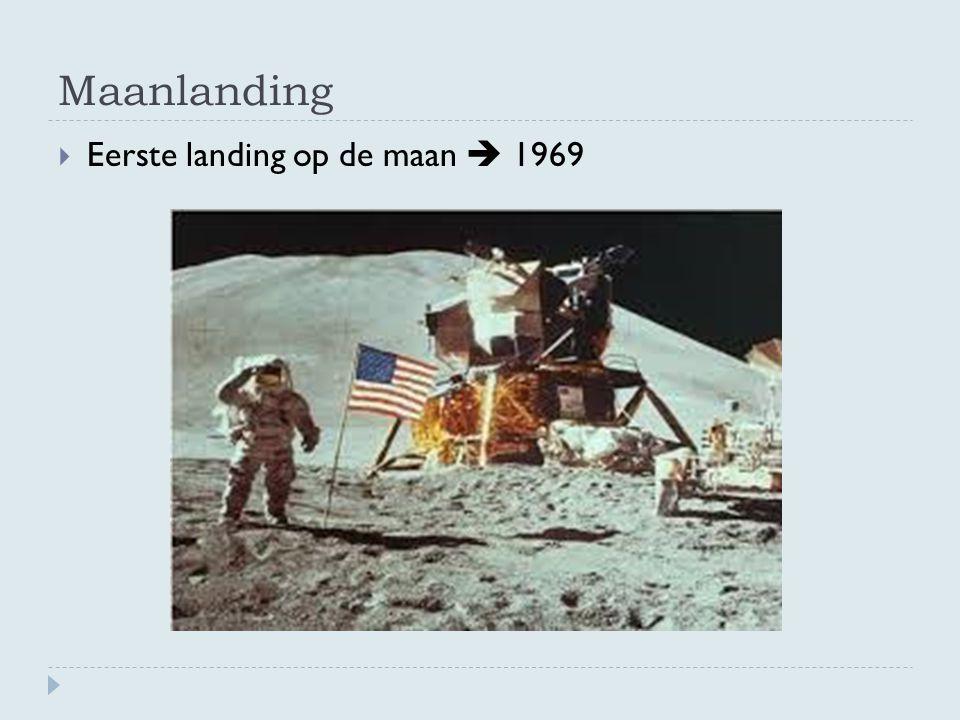 Maanlanding Eerste landing op de maan  1969