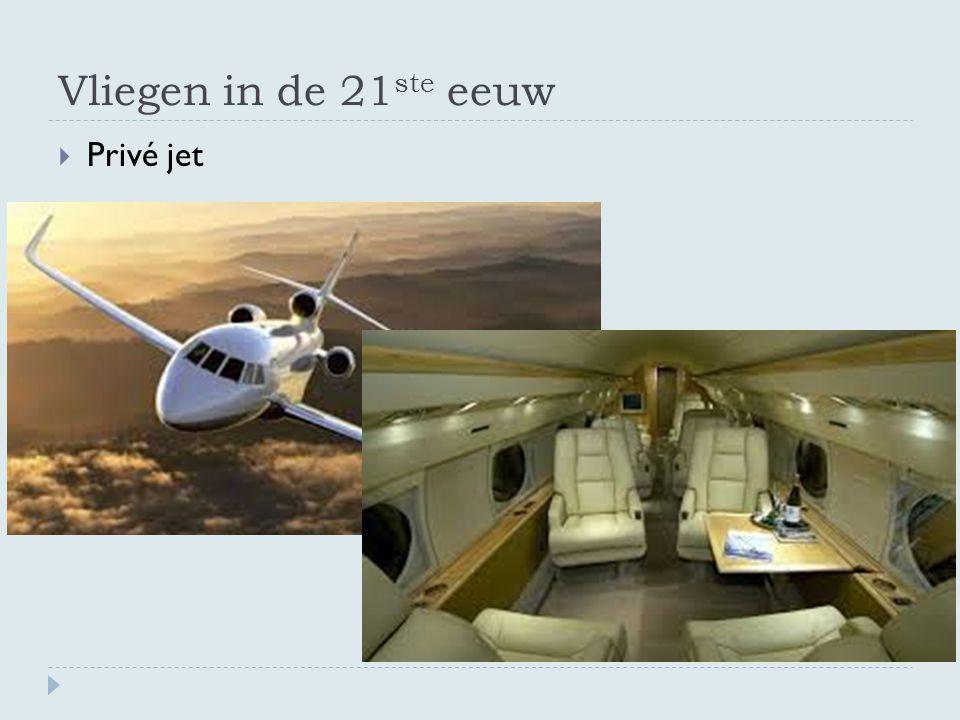 Vliegen in de 21ste eeuw Privé jet