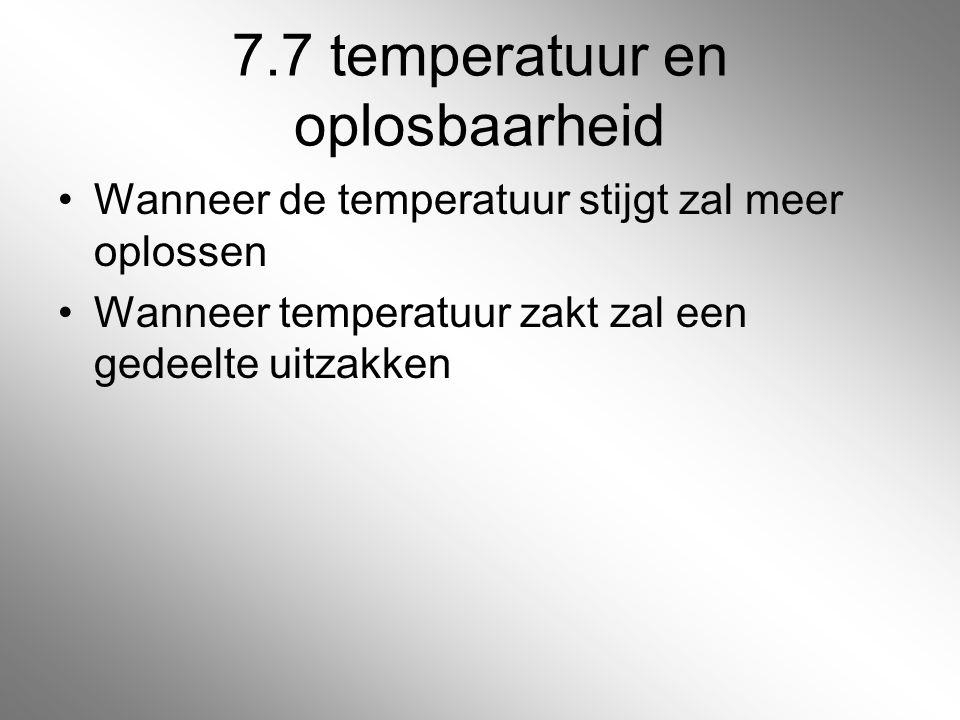 7.7 temperatuur en oplosbaarheid