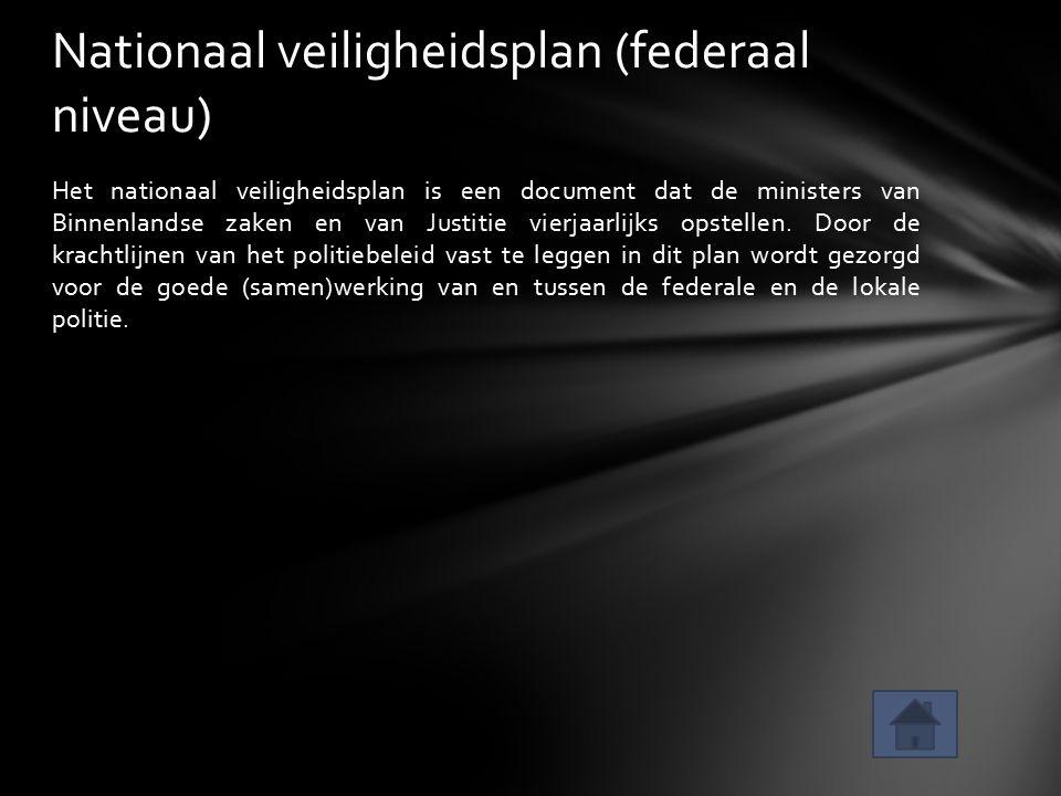 Nationaal veiligheidsplan (federaal niveau)