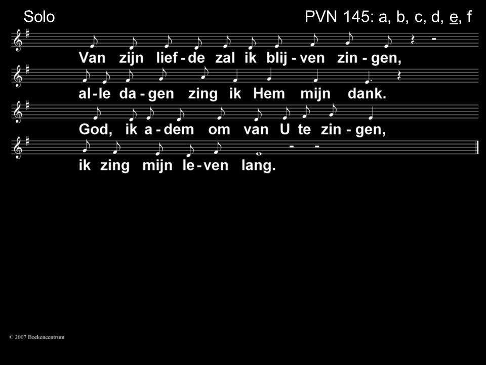 Solo PVN 145: a, b, c, d, e, f