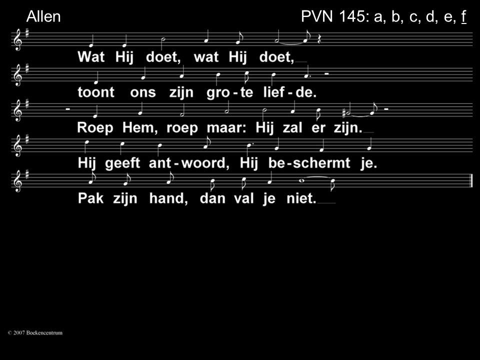 Allen PVN 145: a, b, c, d, e, f
