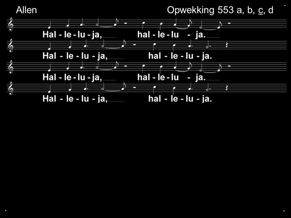 . Allen Opwekking 553 a, b, c, d . .