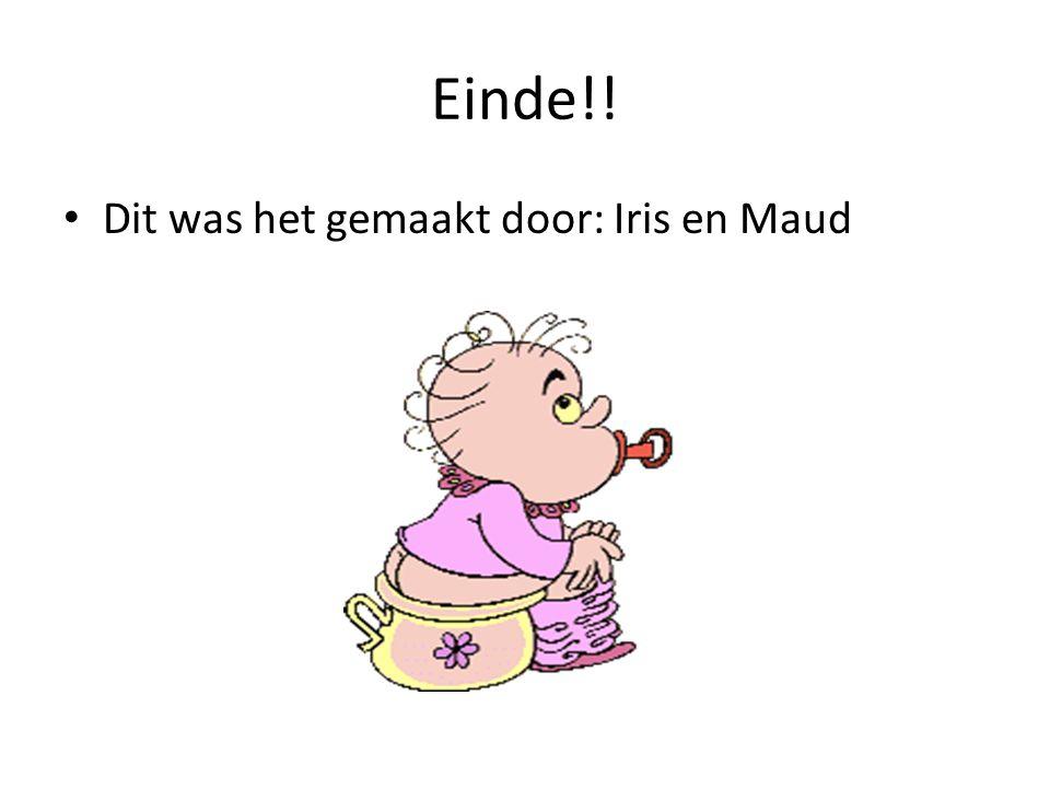 Einde!! Dit was het gemaakt door: Iris en Maud