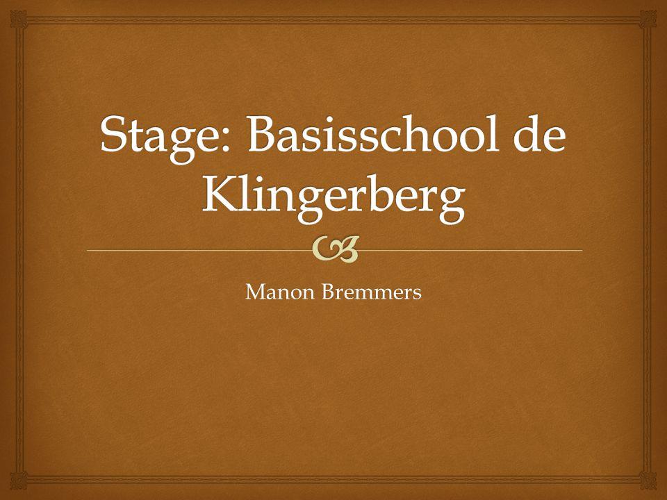 Stage: Basisschool de Klingerberg