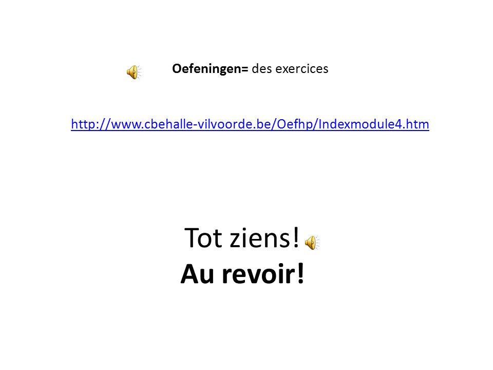Oefeningen= des exercices