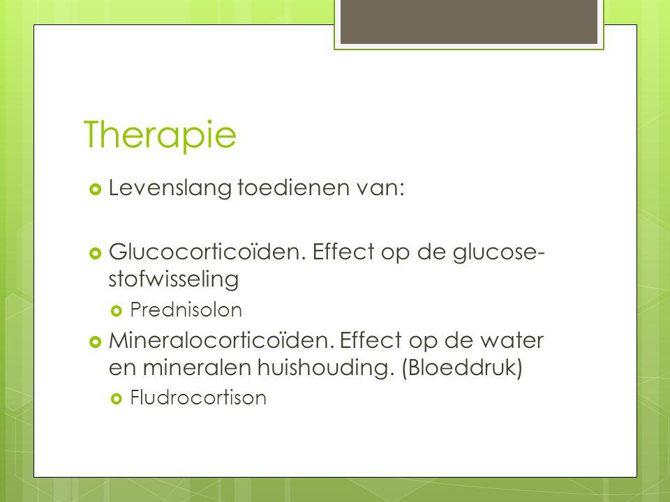 Therapie Levenslang toedienen van:
