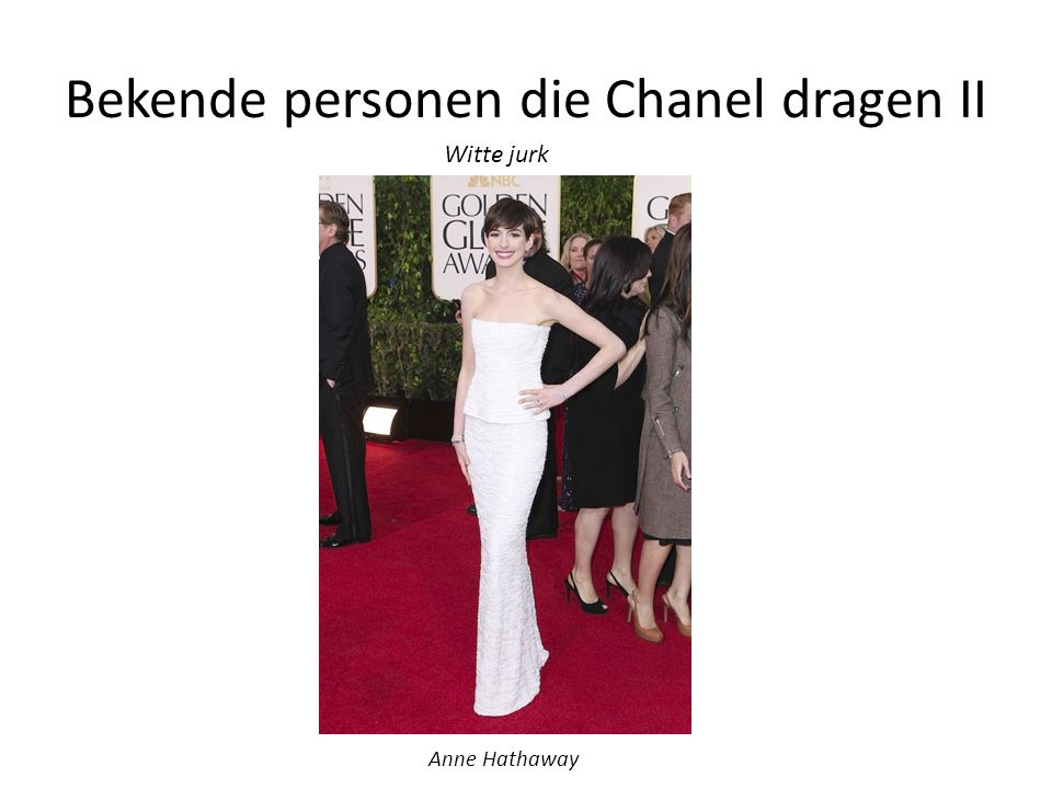 Bekende personen die Chanel dragen II
