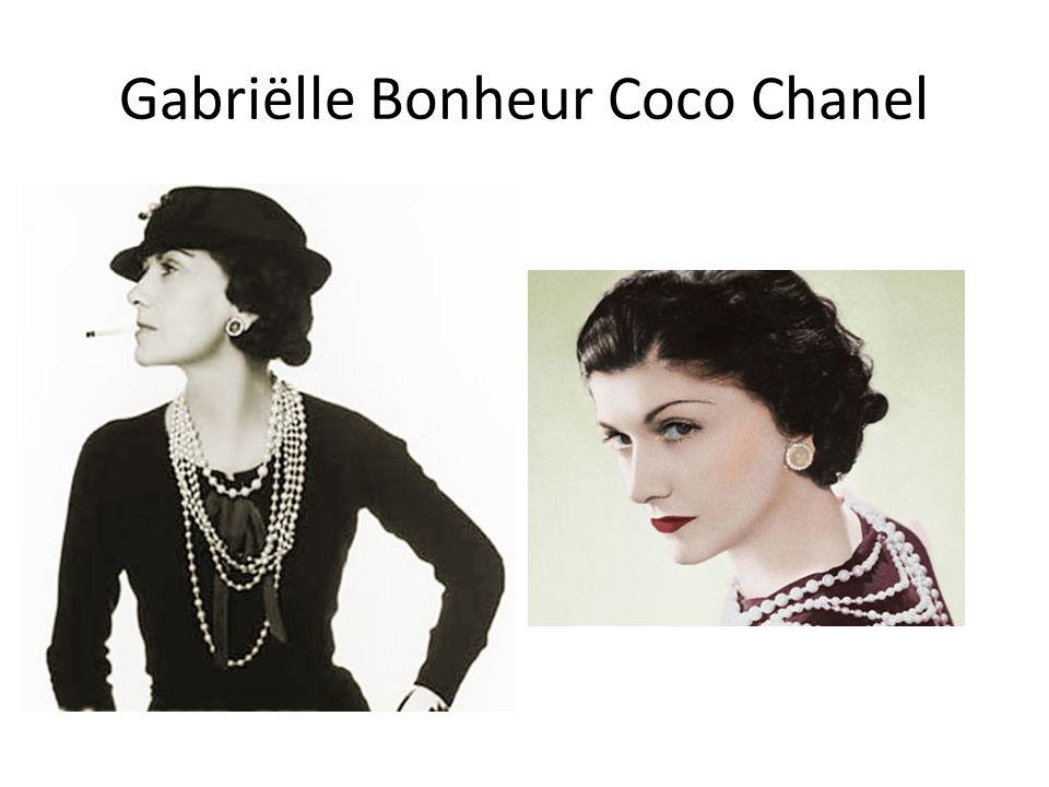 Gabriëlle Bonheur Coco Chanel