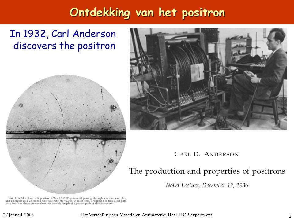 Ontdekking van het positron