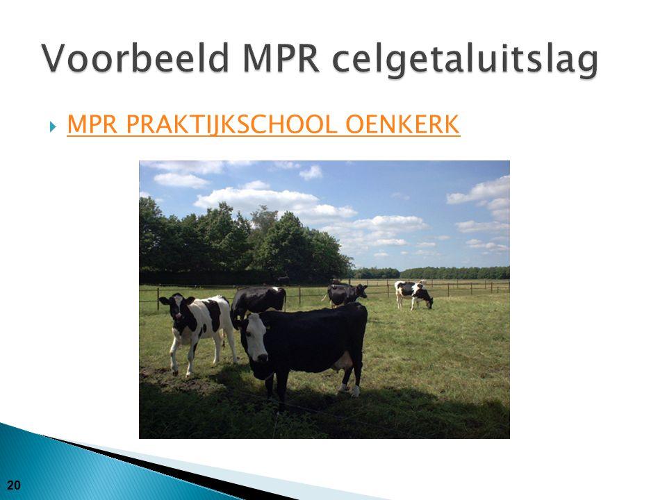 Voorbeeld MPR celgetaluitslag