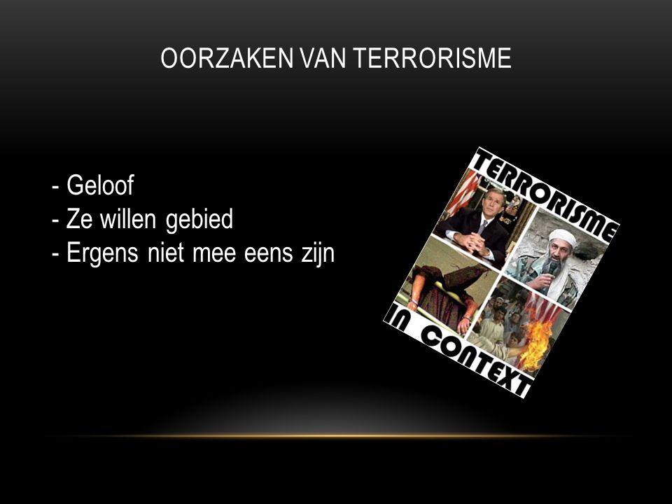 Oorzaken van terrorisme