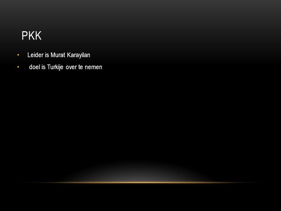 PKK Leider is Murat Karayilan doel is Turkije over te nemen
