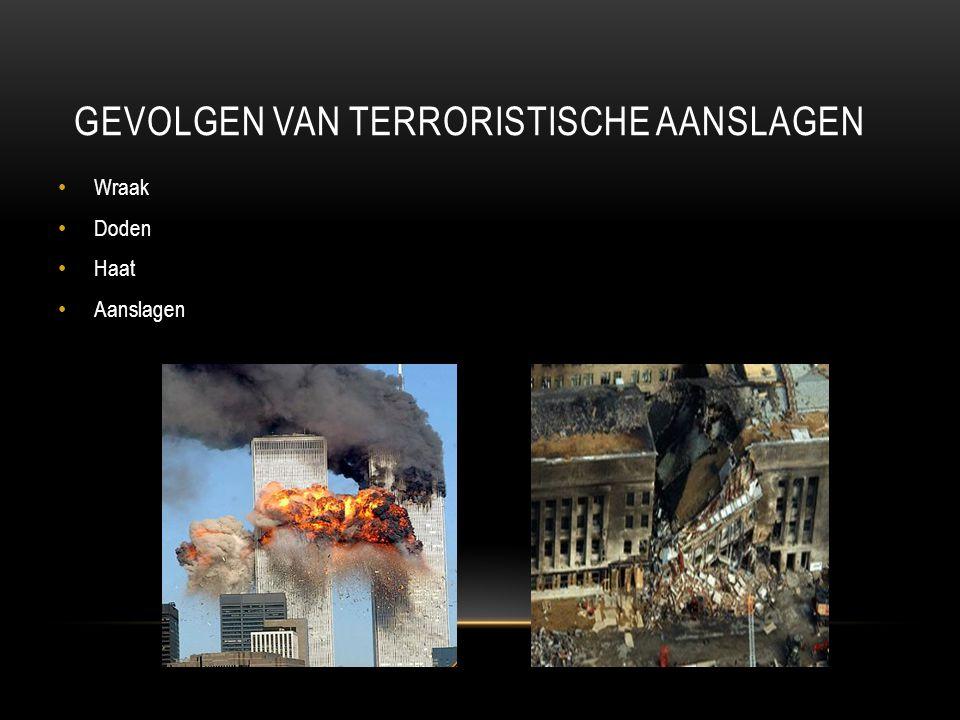 Gevolgen van terroristische aanslagen