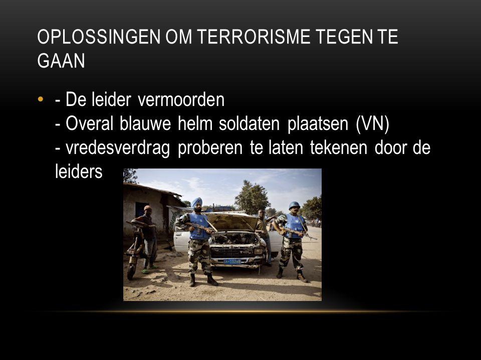 Oplossingen om terrorisme tegen te gaan
