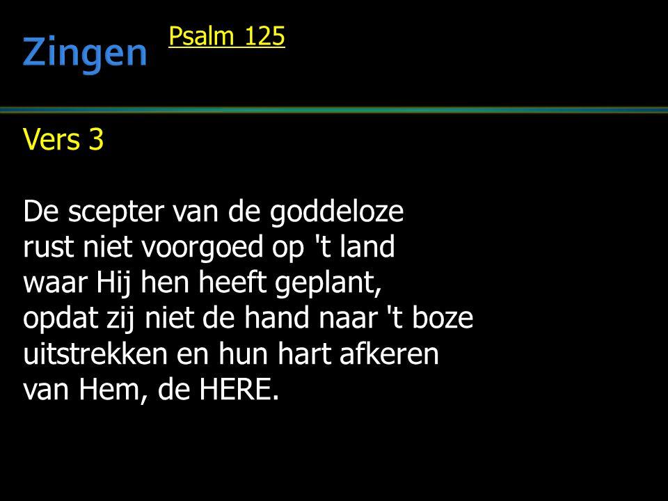 Zingen Vers 3 De scepter van de goddeloze