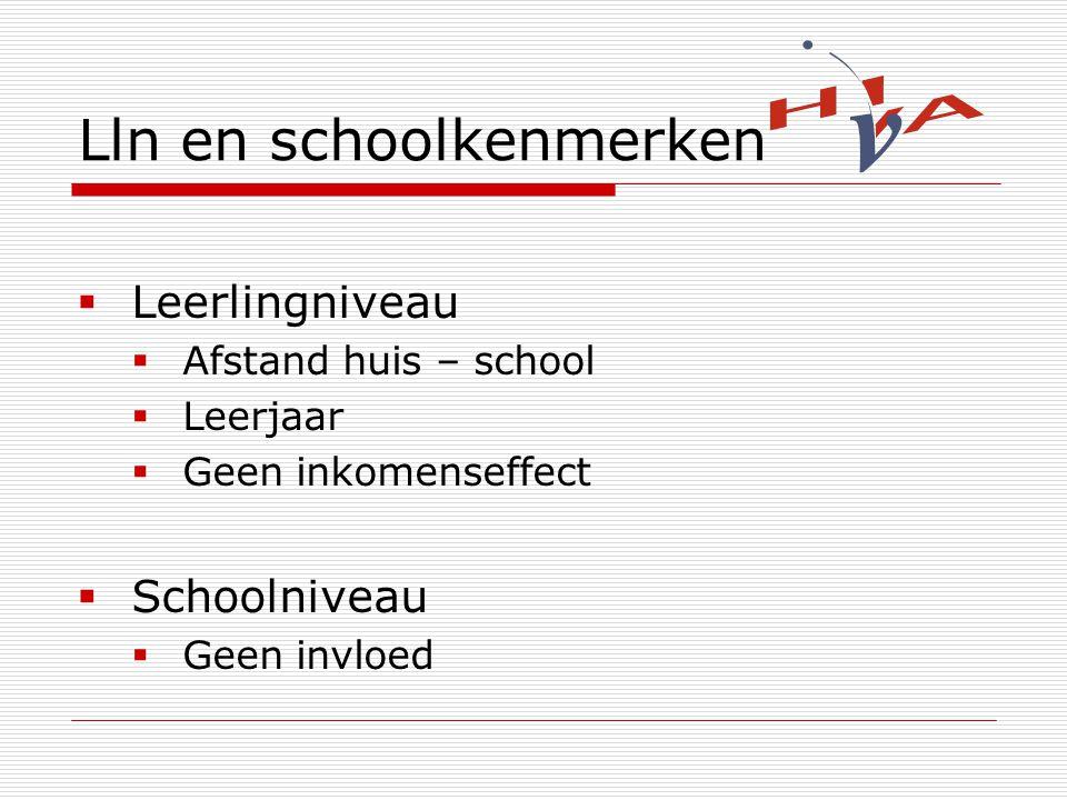 Lln en schoolkenmerken