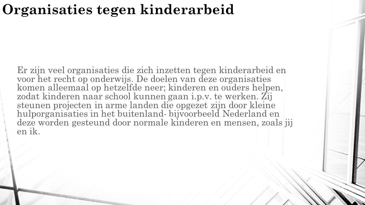Organisaties tegen kinderarbeid