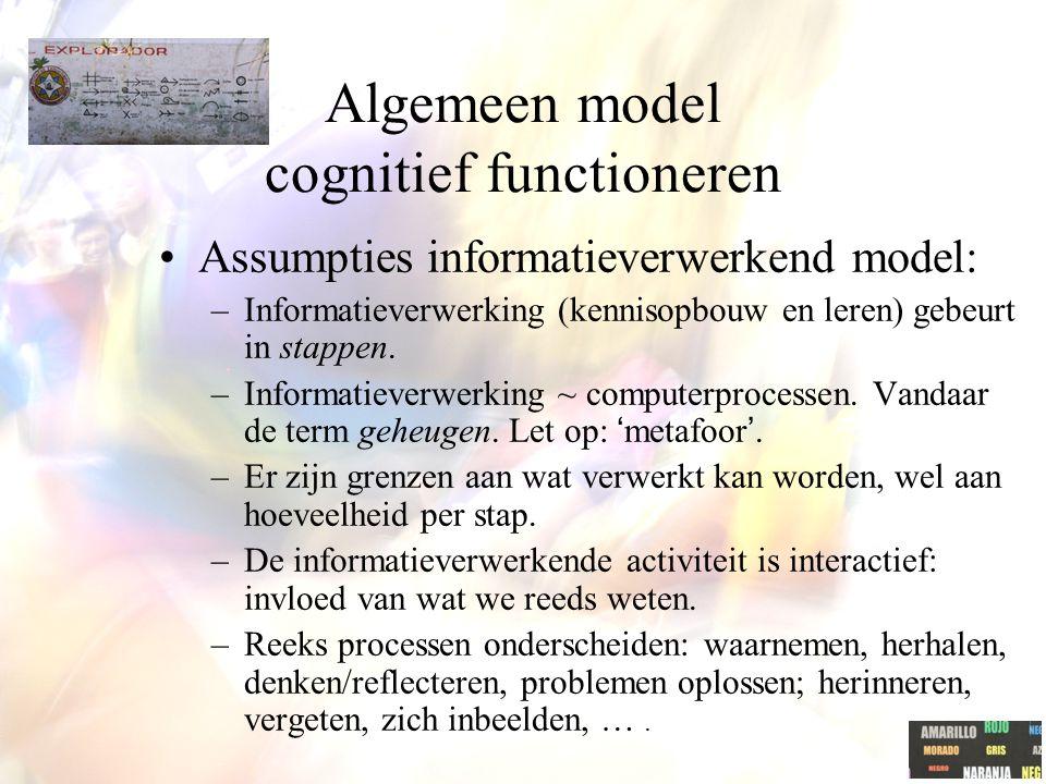 Algemeen model cognitief functioneren