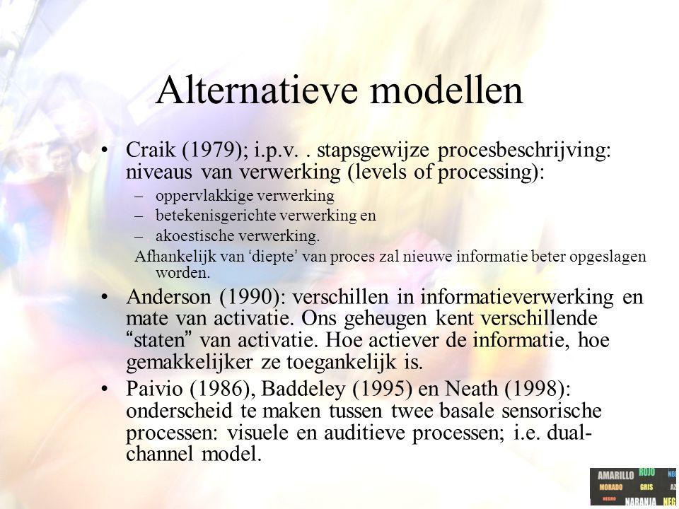 Alternatieve modellen