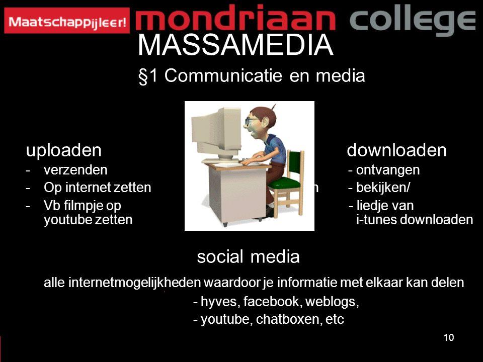 §1 Communicatie en media
