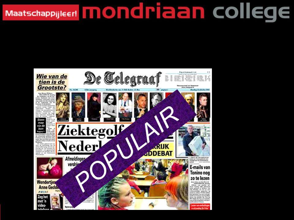 POPULAIR MASSAMEDIA §3: Wat voor Krant