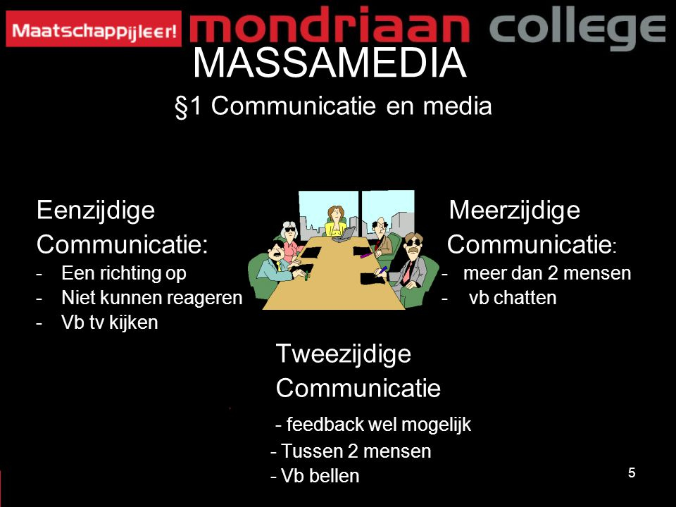 §1 Communicatie en media