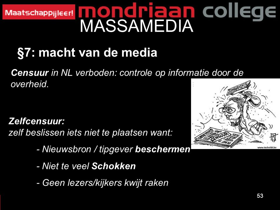 MASSAMEDIA §7: macht van de media