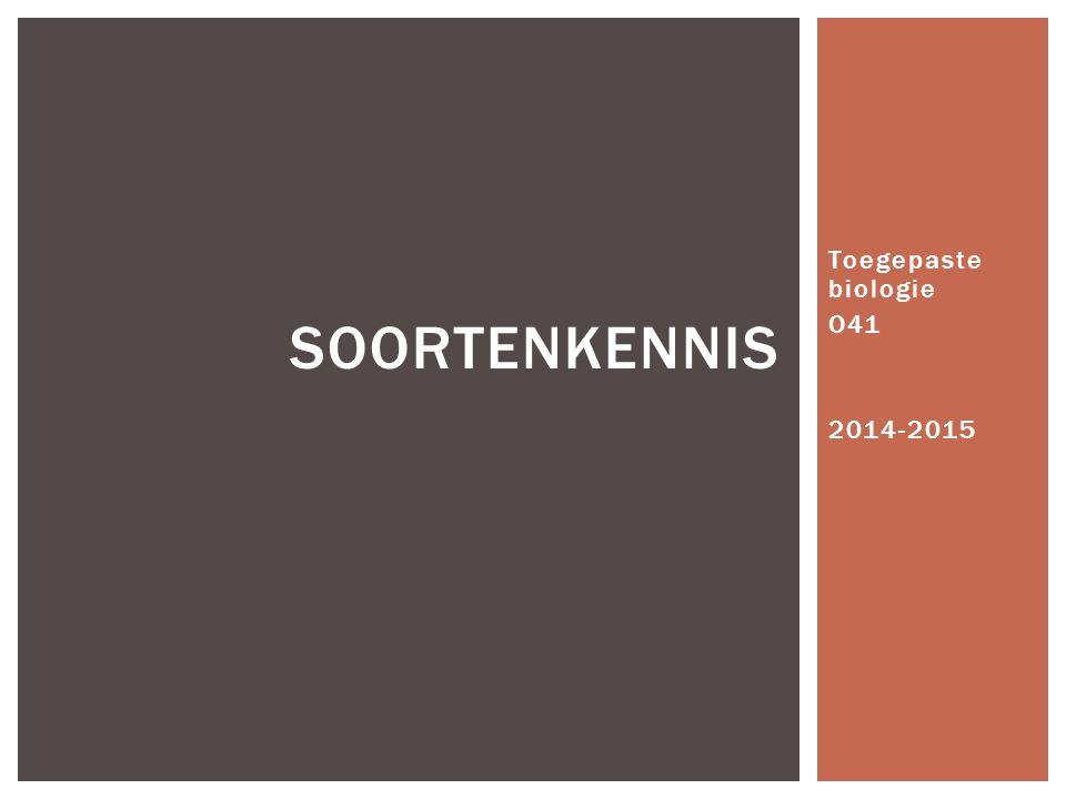 Toegepaste biologie O41 2014-2015